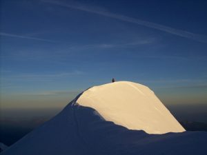 salita al monte bianco